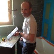 The bathroom was stripped, tanked out and fully rebuilt