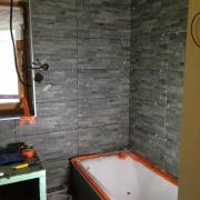 New tiles and tub taking shape